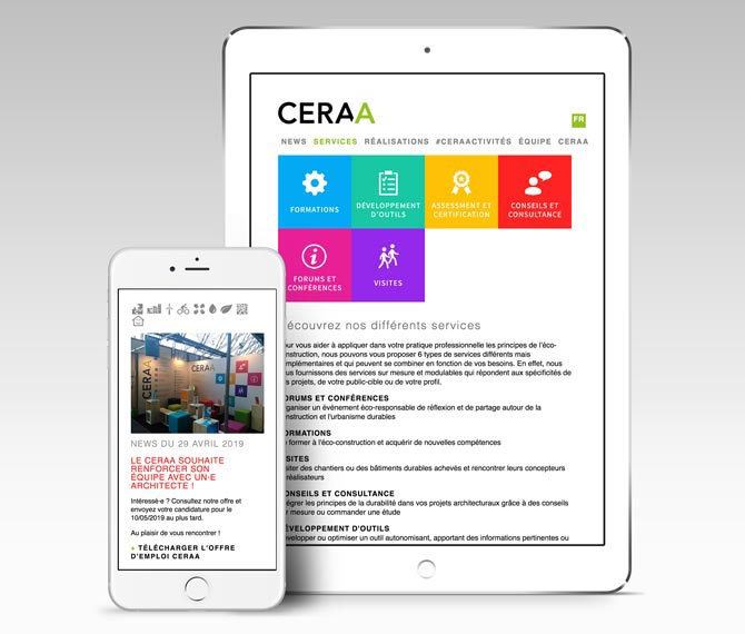 CERAA website responsive