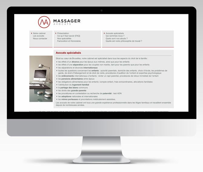 Massager Avocats - website
